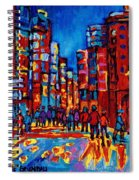 City After The Rain Spiral Notebook