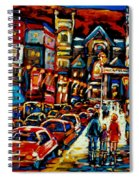 City At Night Downtown Montreal Spiral Notebook