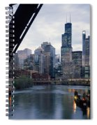 City At The Waterfront, Chicago River Spiral Notebook