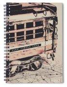 City Circle Street Artwork Spiral Notebook