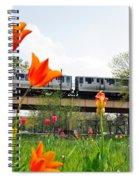 City Garden Chicago L Train Spiral Notebook