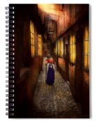 City - Germany - Alley - A Long Hard Life 1904 Spiral Notebook