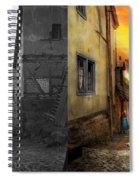 City - Germany - Alley - The Farmers Wife 1904 - Side By Side Spiral Notebook