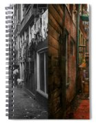 City - Germany - Alley - The Other Half 1904 - Side By Side Spiral Notebook