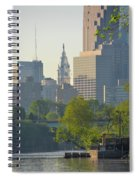 City Hall From The Schuylkill River Spiral Notebook