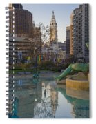 City Hall Reflecting In Swann Fountain Spiral Notebook