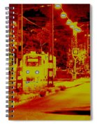City In Red Spiral Notebook