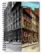 City - Knoxville Tn - Gay Street 1903 - Side By Side Spiral Notebook