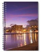 City Lights Reflections Spiral Notebook