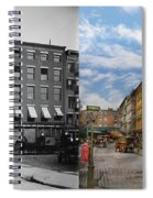 City - New York Ny - Fraunce's Tavern 1890 - Side By Side Spiral Notebook