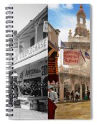 City - Ny - The Great Steeplechase 1903 - Side By Side Spiral Notebook
