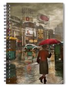 City - Ny - Times Square On A Rainy Day 1943 Spiral Notebook