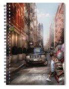 City - Ny - Walking Down Mercer Street Spiral Notebook