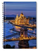 City Of Budapest At Twilight Spiral Notebook