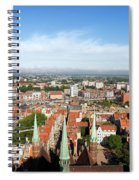 City Of Gdansk Aerial View Spiral Notebook