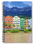 City Of Innsbruck Colorful Inn River Waterfront Panorama Spiral Notebook