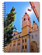 City Of Ljubljana Church And Square View Spiral Notebook