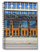 City Of Ljubljana Parliament Building View Spiral Notebook