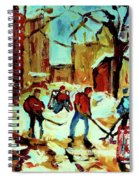 City Of Montreal Hockey Our National Pastime Spiral Notebook