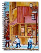 City Of Montreal St. Urbain And Mont Royal Beautys With Hockey Spiral Notebook