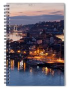 City Of Porto In Portugal At Dusk Spiral Notebook