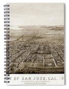 City Of San Jose County Of Santa Clara 1875 Spiral Notebook