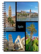 City Of Split Nature And Architecture Collage Spiral Notebook