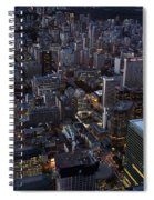 City Of Toronto Downtown After Sunset Spiral Notebook