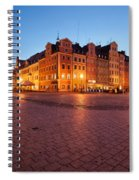 City Of Wroclaw Old Town Market Square At Night Spiral Notebook
