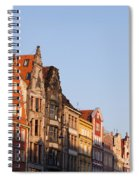 City Of Wroclaw Old Town Skyline At Sunset Spiral Notebook