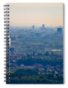 City Of Zagreb Panoramic Aerial View Spiral Notebook