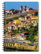City On A Hillside Spiral Notebook