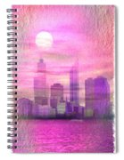 City On Night View Spiral Notebook