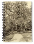 City Park New Orleans - Sepia Spiral Notebook