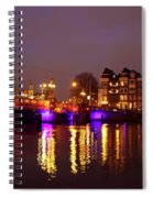 City Scenic From Amsterdam With The Blue Bridge In The Netherlands Spiral Notebook