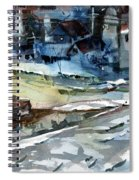 City Snow Melts Spiral Notebook