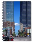 City Street Canyon Spiral Notebook