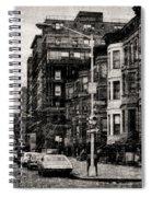 City Streets In Grunge Spiral Notebook