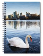 City Swan Spiral Notebook