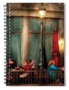 City - Vegas - Paris - The Outdoor Cafe  Spiral Notebook