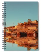 Cityscape For The Beautiful Nubian City Aswan In Egypt At The Golden Hour Of The Sunset Time. Spiral Notebook