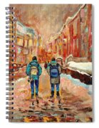 Cityscape In Winter Spiral Notebook