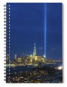 Cityscape Tribute In Lights Nyc Spiral Notebook