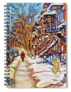 Cityscene In Winter Spiral Notebook