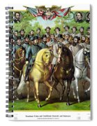 Civil War Generals And Statesman With Names Spiral Notebook
