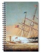 Civil War Merrimack 1862 Spiral Notebook