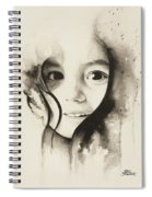 Claire Black And White Spiral Notebook