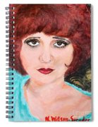 Clara On Black And Gold Spiral Notebook