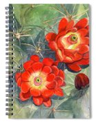 Claret Cup Cactus Spiral Notebook
