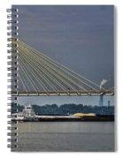 Clark Bridge And Barge  Spiral Notebook